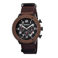Breed Decker Nylon-Band Chronograph Men's Watch  -  Black BRD1501