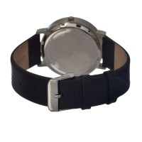 Breed Kimble One-Hand Leather-Band Men's Watch  -  Silver BRD2501