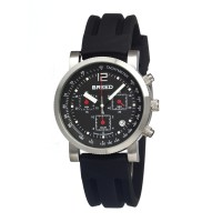 Breed Manning Chronograph Men's Watch w/ Date  -  Silver/Black BRD2602