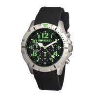 Breed Sergeant Chronograph Men's Watch w/ Date-Black/Green BRD3606