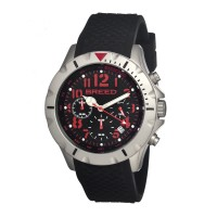 Breed Sergeant Chronograph Men's Watch w/ Date  -  Black/Red BRD3607