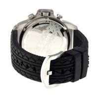 Breed Nash Chronograph Men's Watch w/ Date  -  Silver/Black BRD5401