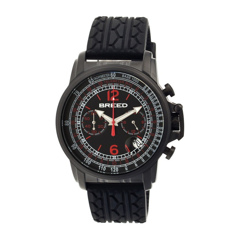 Breed Nash Chronograph Men's Watch w/ Date-Black BRD5403