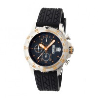 Breed Socrates Chronograph Men's Watch w/ Date  -  Silver/Orange BRD6303