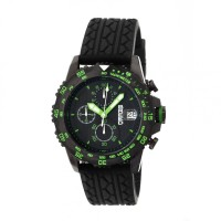 Breed Socrates Chronograph Men's Watch w/ Date  -  Black/Green BRD6306
