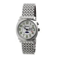 Breed Ray Moon-Phase Men's Bracelet Watch w/ Date-Gold/Silver BRD6503
