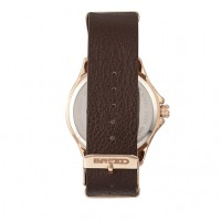 Breed Dixon Leather-Band Watch w/Day/Date - Bronze/Brown BRD7303