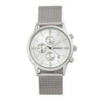 Breed Espinosa Chronograph Mesh-Bracelet Watch w/ Date - Silver/Gunmetal BRD7602