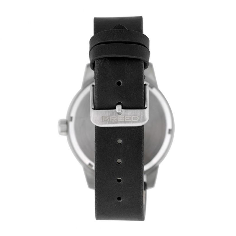 Breed Renegade Leather-Band Watch - Black BRD7702