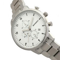 Breed Holden Chronograph Bracelet Watch w/ Date - Silver BRD7801
