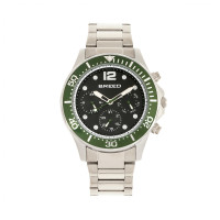 Breed Pegasus Bracelet Watch w/Day/Date  - Green/Silver BRD8102