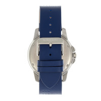 Breed Revolution Leather-Band Watch w/Date - Blue BRD8301
