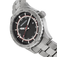 Breed Mechanic Bracelet Watch w/Date - Black BRD8401