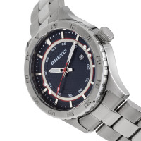 Breed Mechanic Bracelet Watch w/Date - Navy BRD8402