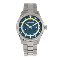 Breed Mechanic Bracelet Watch w/Date - Teal BRD8403