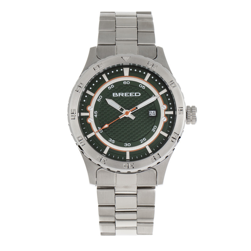 Breed Mechanic Bracelet Watch w/Date - Green BRD8404