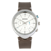 Breed Tempest Chronograph Leather-Band Watch w/Date - Brown/Black BRD8606