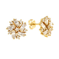 Bertha Juliet 18k Yellow Gold Plated Cluster Stud Earrings BRJ10566EO