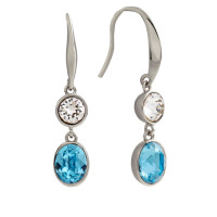 Bertha Jemma 18k White Gold Plated Blue Dangle Earrings BRJ10577EO