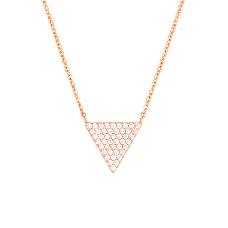 Bertha Sophia 18k Rose Gold Plated Triangle Pendant Necklace BRJ10587NO