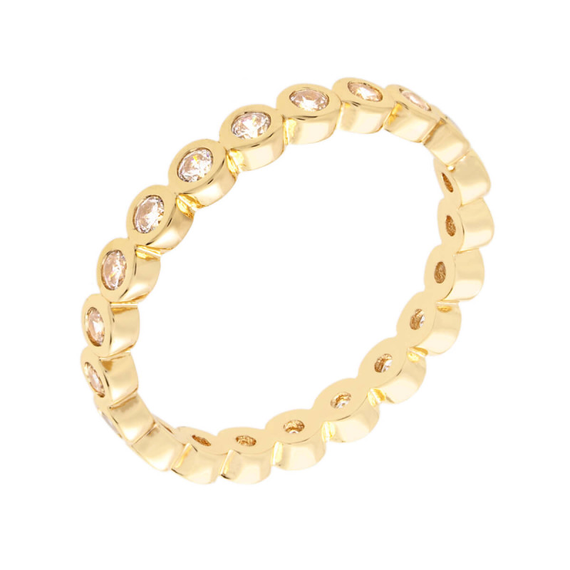 Bertha Juliet 18k Yellow Gold Plated Stackable Eternity Ring BRJ10676R7