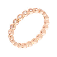 Bertha Juliet 18k Rose Gold Plated Stackable Eternity Ring BRJ10677R7