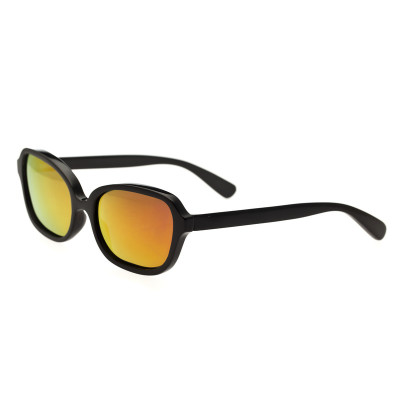 Bertha Harley Buffalo-Horn Polarized Sunglasses - Black/Gold
