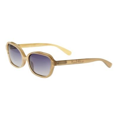 Bertha Harley Buffalo-Horn Polarized Sunglasses - Vanilla/Black