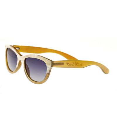 Bertha Carly Buffalo-Horn Polarized Sunglasses - Cream-Black/Black
