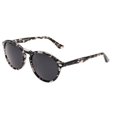 Bertha Kennedy Polarized Sunglasses - Silver Tortoise/Black