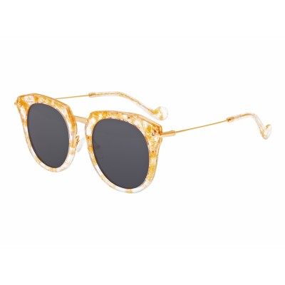 Bertha Aaliyah Polarized Sunglasses - Peach Tortoise/Black