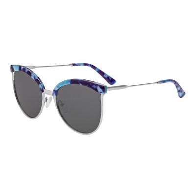 Bertha Hazel Polarized Sunglasses - Silver/Black