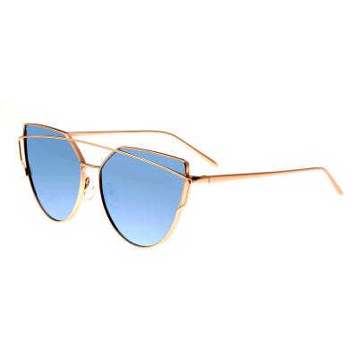 Bertha Aria Polarized Sunglasses - Rose Gold/Celeste