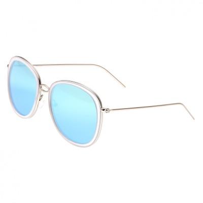 Bertha Scarlett Polarized Sunglasses - Silver/Light Blue