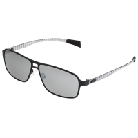 Breed Meridian Titanium and Carbon Fiber Polarized Sunglasses - Gunmetal/Black BSG003GM