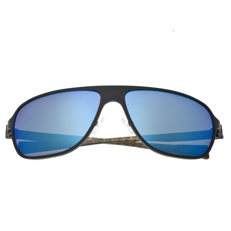 Breed Atmosphere Titanium And Carbon Fiber Polarized Sunglasses - Black/Blue BSG004BK