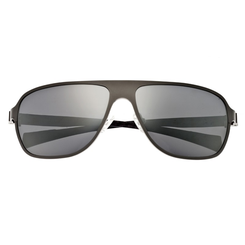 Breed Atmosphere Titanium and Carbon Fiber Polarized Sunglasses - Silver/Silver BSG004SR