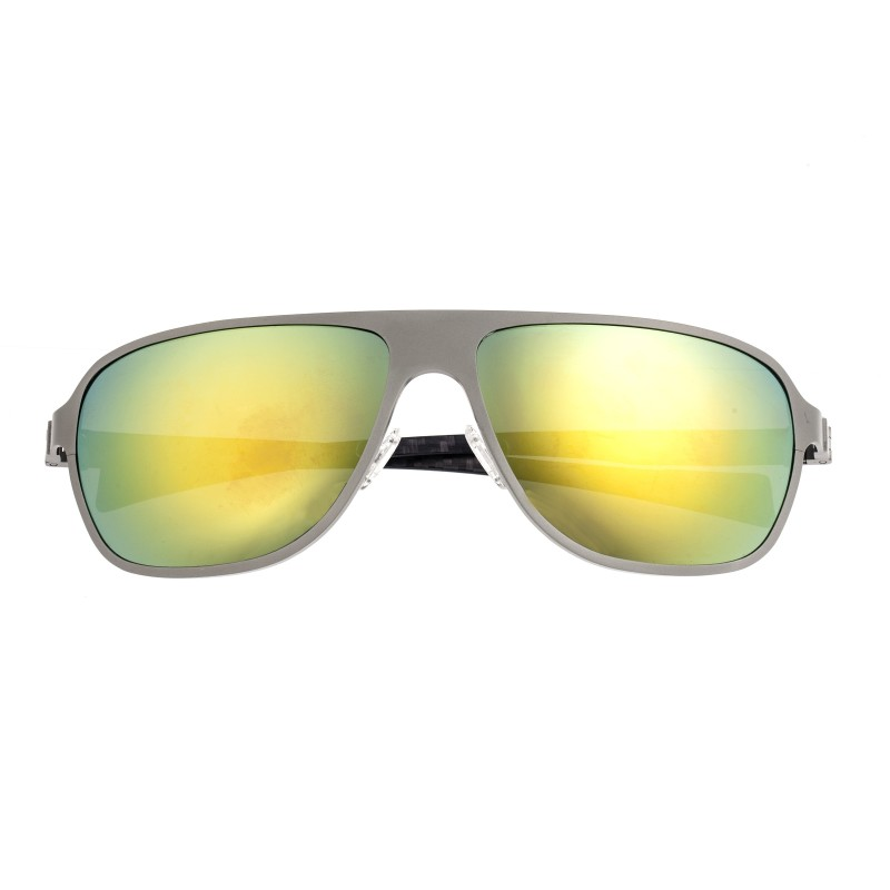 Breed Atmosphere Titanium And Carbon Fiber Polarized Sunglasses - Gunmetal/Green BSG004SRG