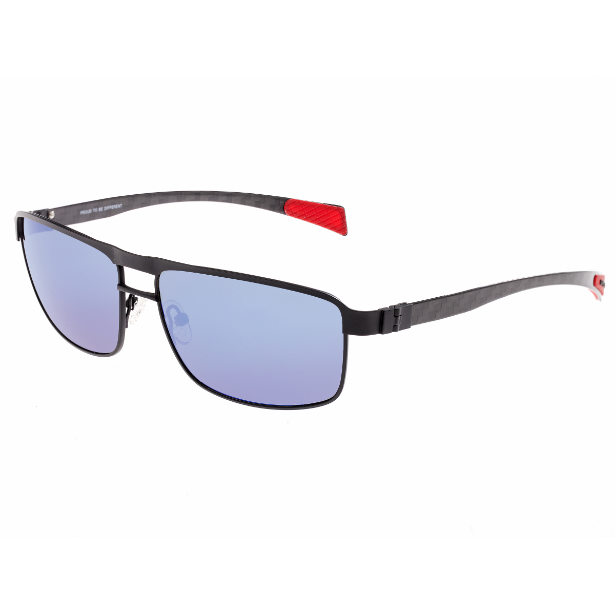 b7f3977bcc96f Breed Taurus Titanium and Carbon Fiber Polarized Sunglasses - Black Blue  BSG005BK