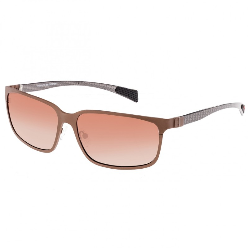 Breed Neptune Titanium and Carbon Fiber Polarized Sunglasses - Brown/Brown BSG008BN