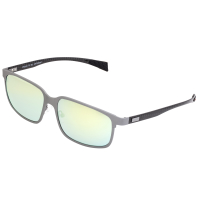 Breed Neptune Titanium and Carbon Fiber Polarized Sunglasses - Silver/Gold-Yellow BSG008SR