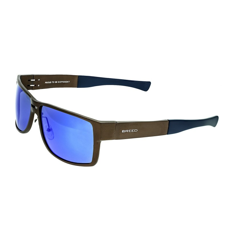 Breed Stratus Aluminium Polarized Sunglasses - Brown/Blue BSG010BN