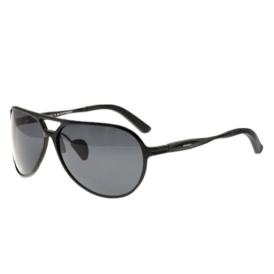 Breed Earhart Aluminium Polarized Sunglasses - Black/Black