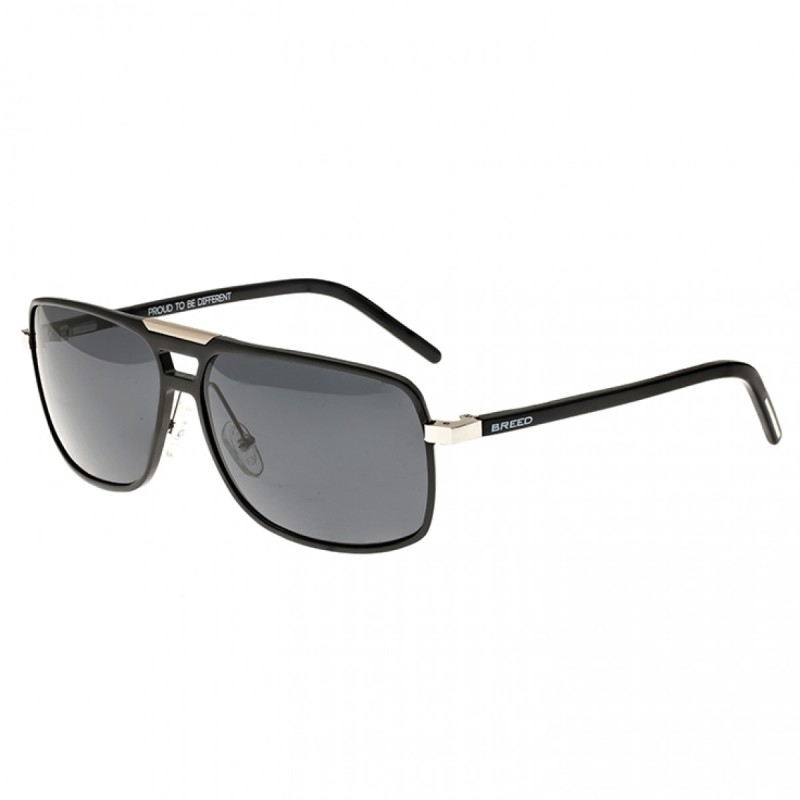 Breed Aurora Aluminium Polarized Sunglasses - Black/Black BSG017BK
