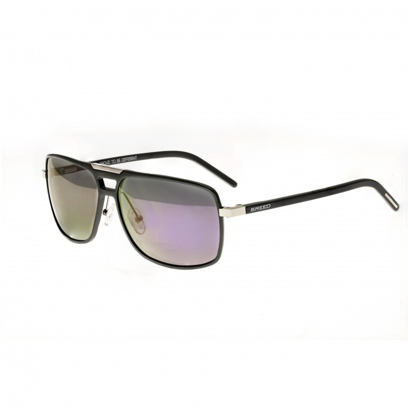 Breed Retrograde Aluminium Polarized Sunglasses - Gunmetal/Purple BSG017SR