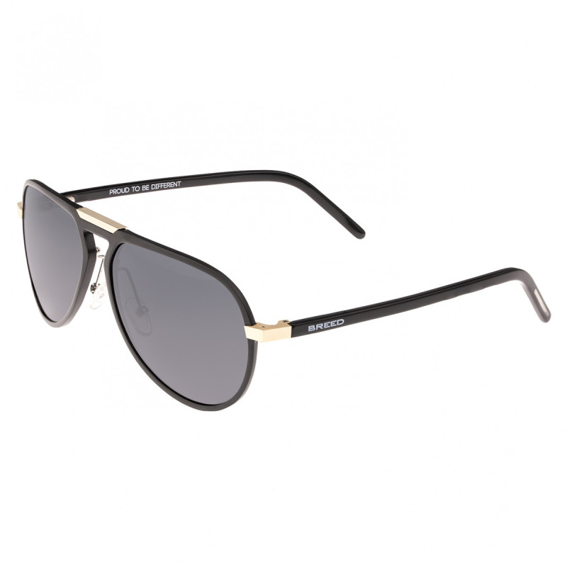 Breed Nova Aluminium Polarized Sunglasses - Black/Black BSG018BK