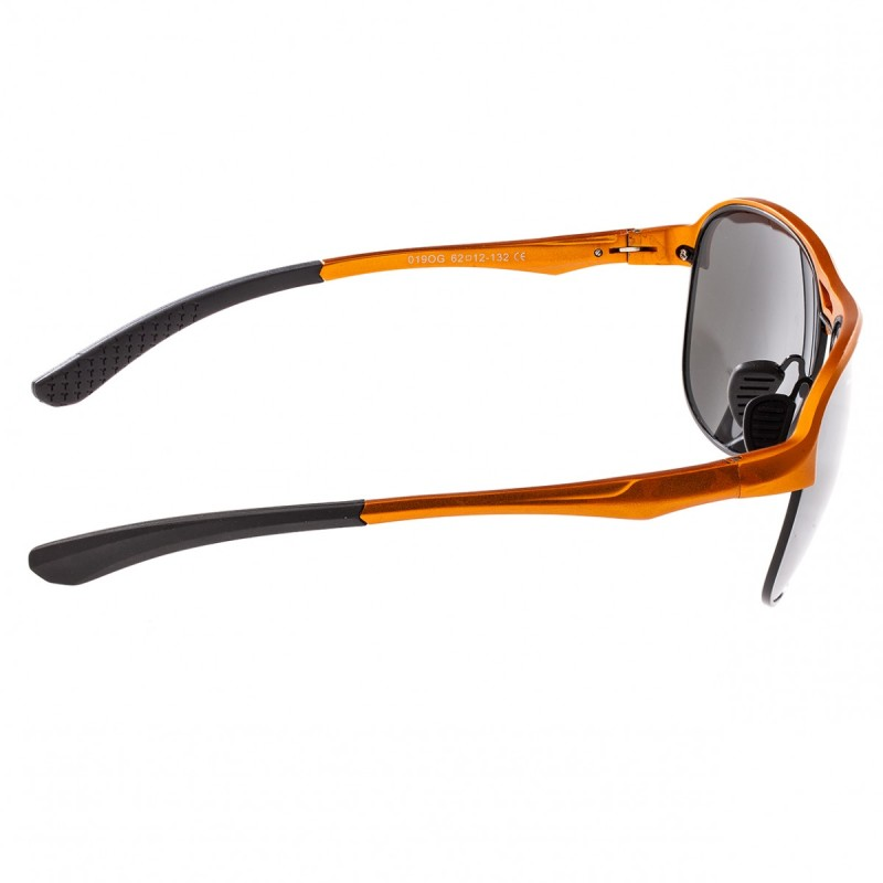 Breed Jupiter Aluminium Polarized Sunglasses - Orange/Silver BSG019OG