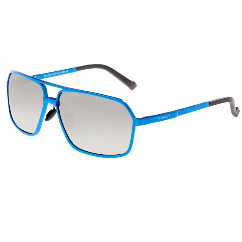 Breed Fornax Aluminium Polarized Sunglasses - Blue/Silver BSG023BL