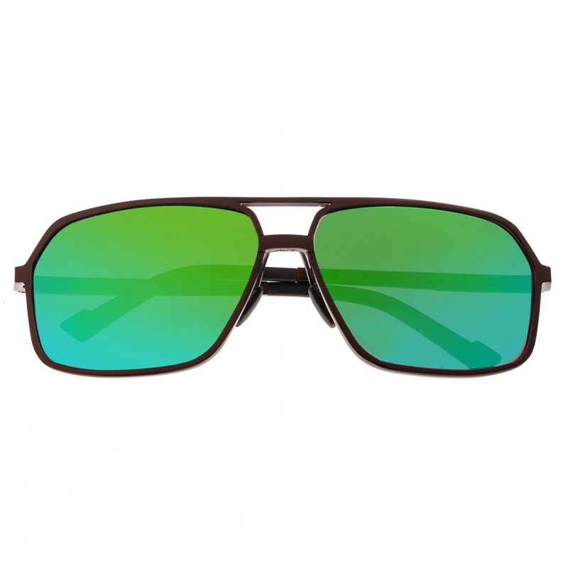 Breed Fornax Aluminium Polarized Sunglasses - Brown/Blue-Green BSG023BN