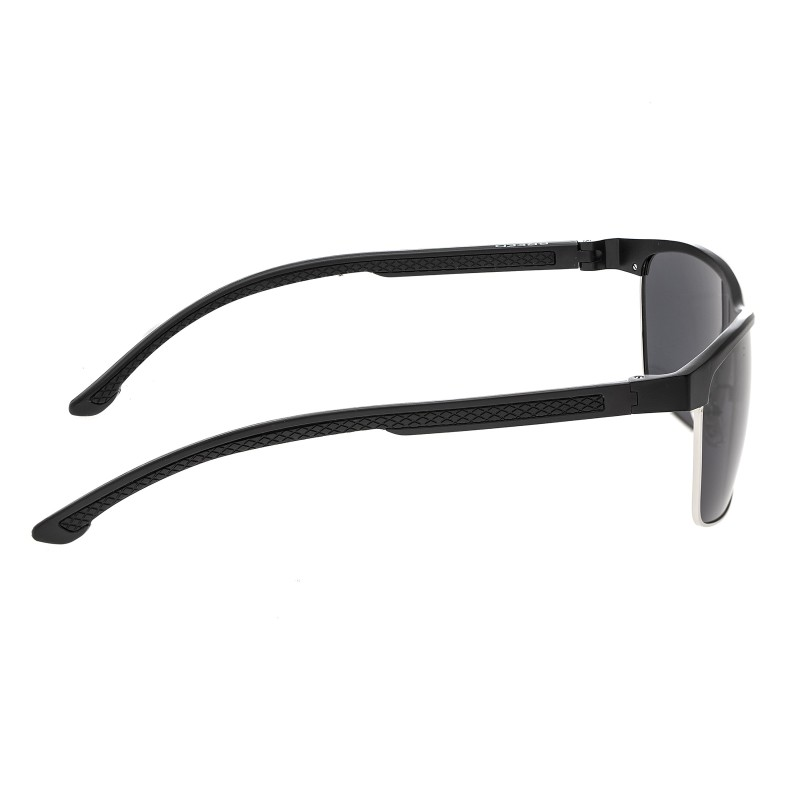 Breed Bode Aluminium Polarized Sunglasses - Black/Black BSG026BK